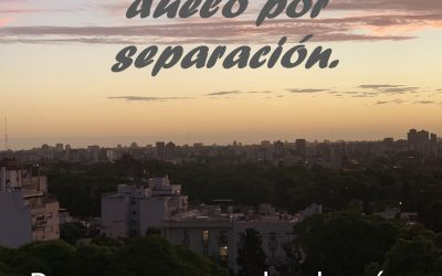 El Acompañamiento Espiritual en el duelo por separación. Para recuperar la alegría de vivir