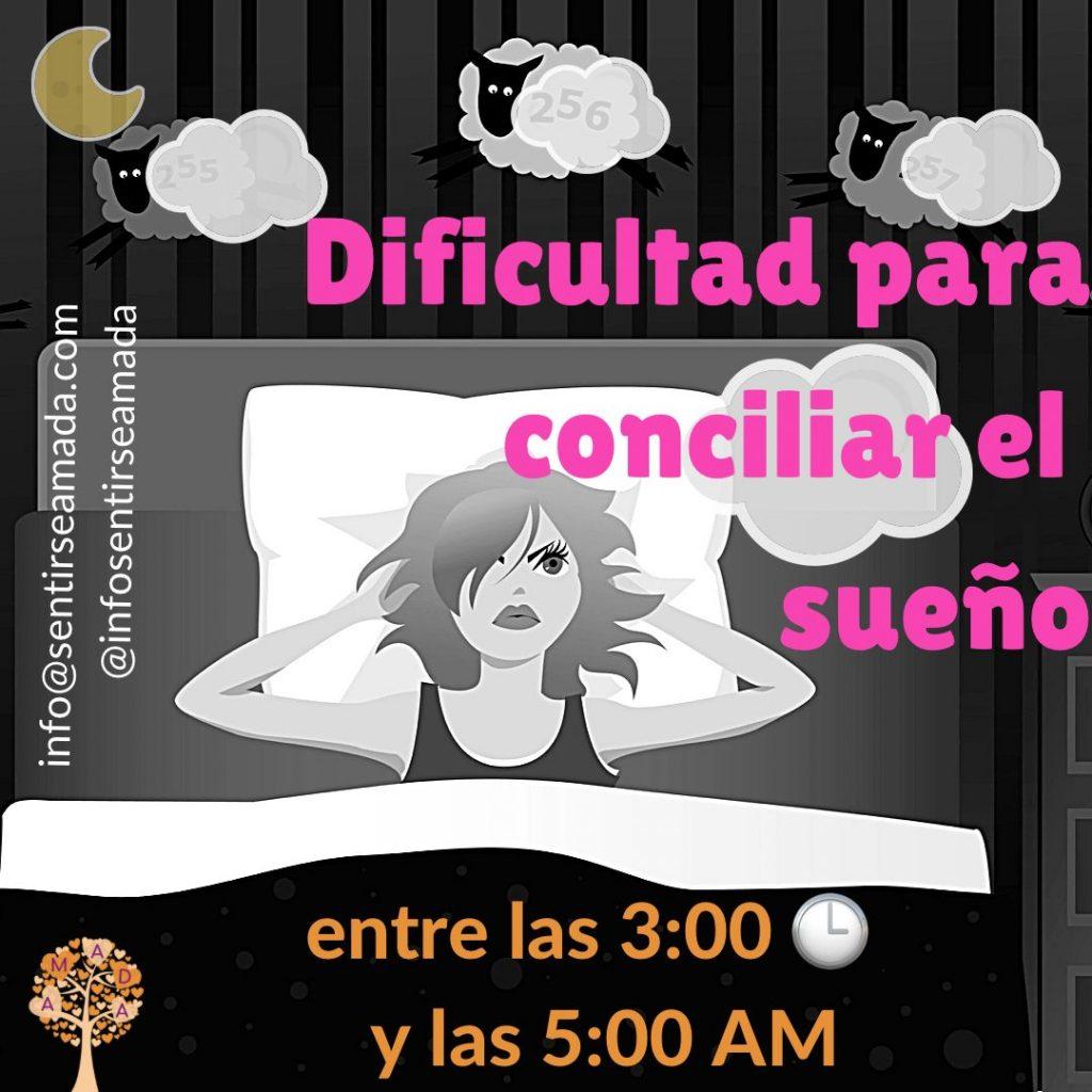 Dificultad para conciliar el sueño de 3 a 5 am
