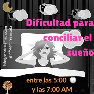dificultad sueño 5 a 7 am